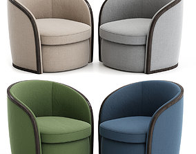 game-ready Toby Armchair 3d model