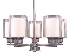 3D Design House Olso 5-Light Satin Nickel Chandelier