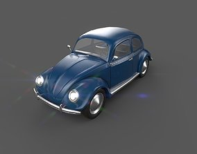 3D model Volkswagen Beetle Low Poly VR Ready