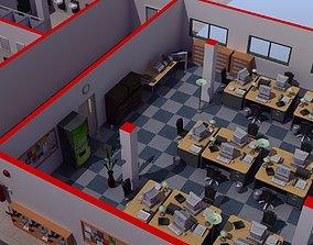 Office Interior Set 3D model