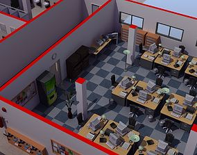 Office Interior Set 3D