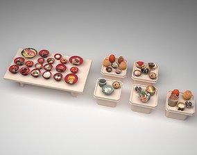 3D asset Korean traditional food