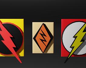 Flash Symbols Pack 3D model low-poly