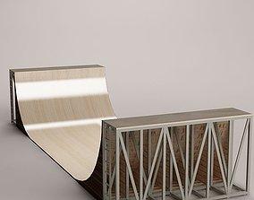 skate ramp 01 3D model box