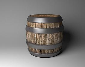 Barrel Lowpoly 3D model