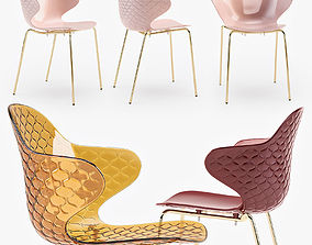 Calligaris Saint Tropez chair furnishing 3D model