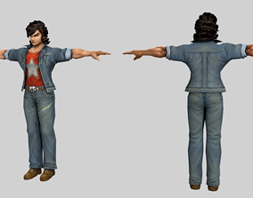3D model Anime Male Character Humanoid Rigged
