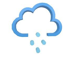 3D asset Weather Symbol v14 004