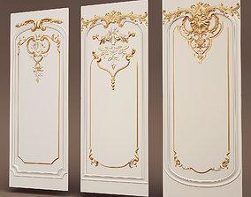 paneling Boiserie set 3D models
