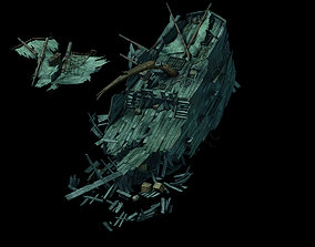 3D model Game Seabed Wreckage - Wreckage 02