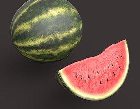 Watermelon 3D asset low-poly