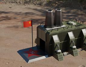 Low Poly Communist Party camp 3D model