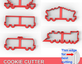 COOKIE CUTTER 5 CARRIAGES PACK 3D printable model
