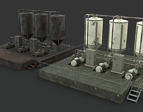 Oil Gaz Water tank 3D