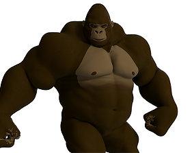 3D animated Cartoon Gorilla