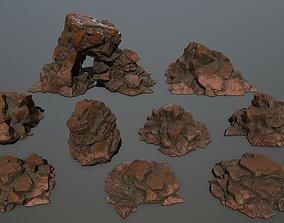desert rock cliff 3D model VR / AR ready