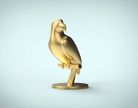 Parrot macaw decoration 3D print model game-ready