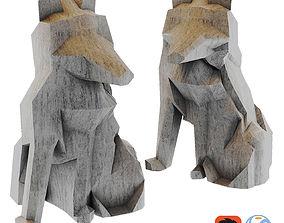 3D model FOX ORIGAMI White Fox Stauette H26