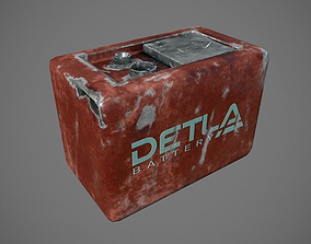 electricity Battery 3D model low-poly
