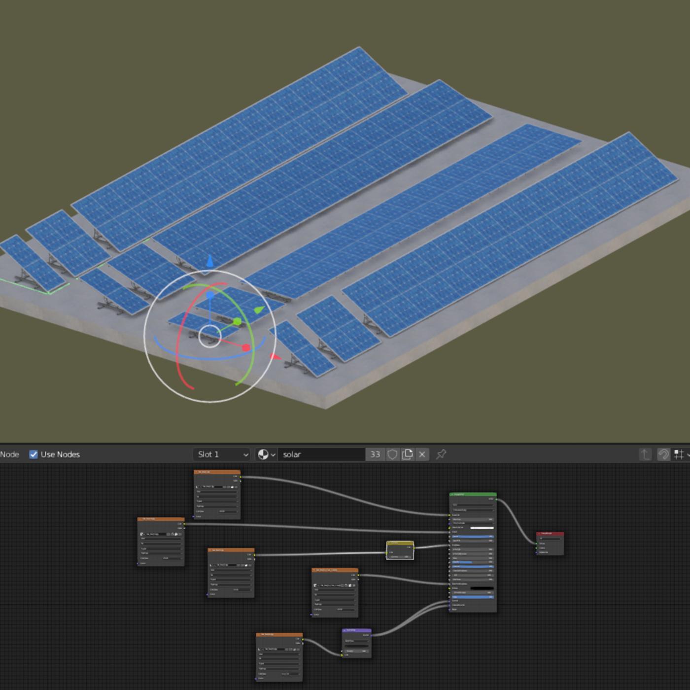 Solar Panel - Blender-2.93
