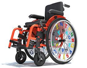 Wheelchair Wheel Chair for Kids 3D