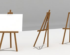 Easel 3D model low-poly