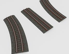 3D model Railroad Tracks Tileable