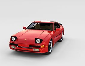 3D model Porsche 944 with interior rev