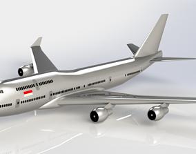 Airplane Boeing 747-100 model 3D