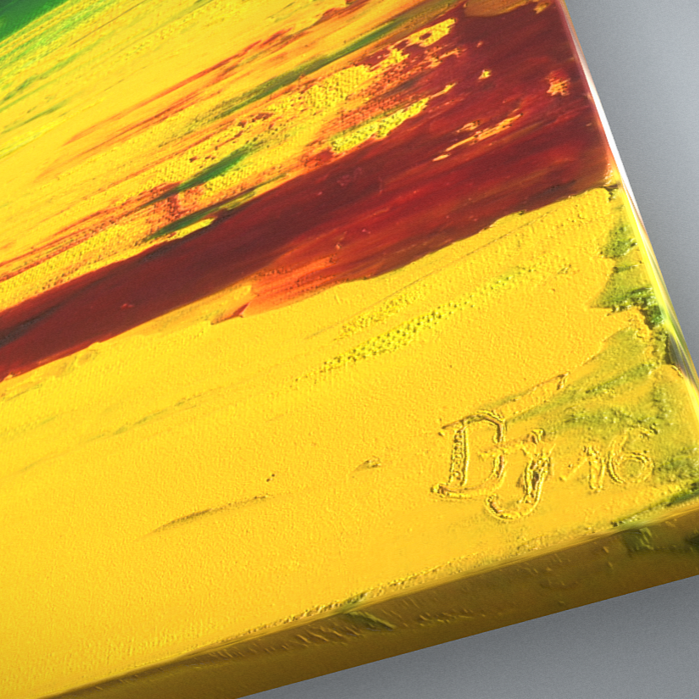 Yellow Meadow - Oil Painting