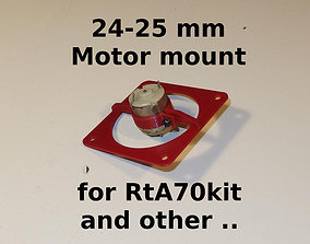 Motors mounts 24-25mm for RtA70kit 3D printable model 2