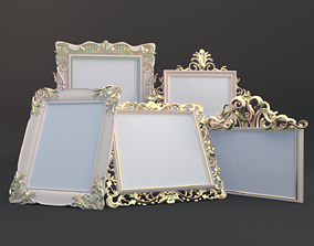 Golden Vintage Photo Frames collection 3D