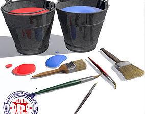Paint Buckets 3D
