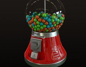 Gumball Machine 3D asset low-poly