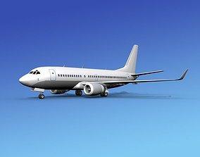 3D model Boeing 737-700ER Unmarked 1