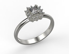 Classic women ring with gems 3dm stl CAD