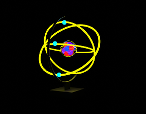 atomic animated project 3D model
