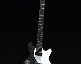 Electric Guitar with ornament for visualisation 3D model