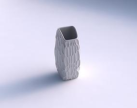 Vase arc rectangle with bubbles 3D printable model