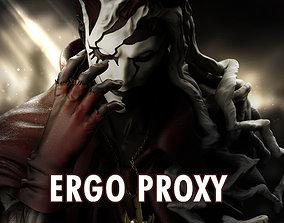 Ergo Proxy High Poly 3D Print Model figure
