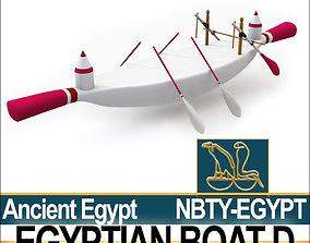Ancient Egypt Boat D 3D