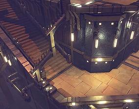 arena Castle 3D model realtime