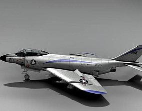 3D model McDonnell F-3 Demon 1951 USA