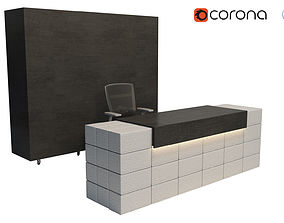 Reception Counter Blocks 3D