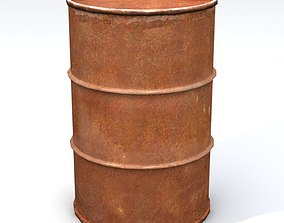 Rusty Old 55 Gallon Drum 3D model