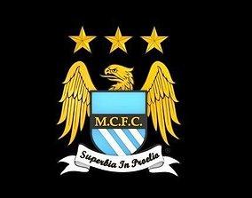 Man City logo 3D