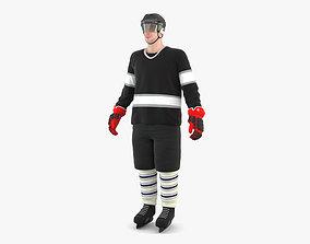 3D model sport Hockey Player