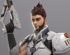 Hero Character 3D asset rigged