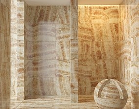 3D model Marble wall 12