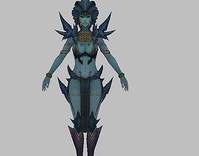 3D robot Woman Character
